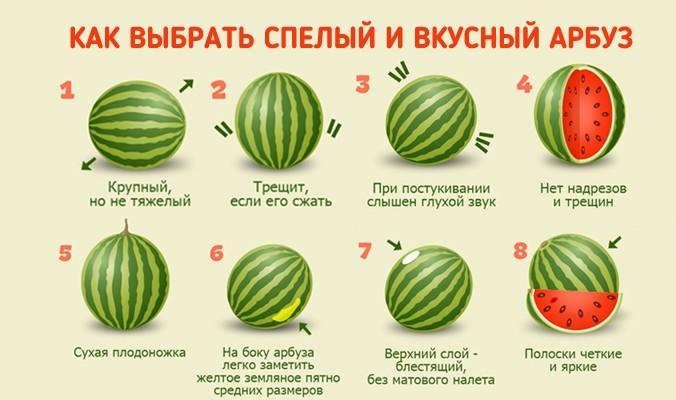 Как правильно выбрать арбуз спелый и сладкий?