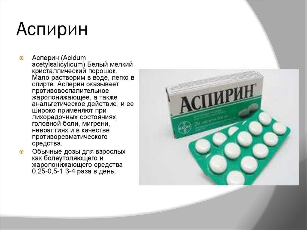 Аспирин от чего?