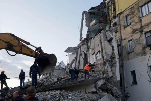 Землятрясение в Албании произошло сегодня 26 ноября 2019, уж сообщается о пострадавших