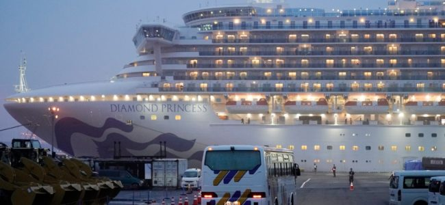 Две россиянки сошли с лайнер Diamond Princess после карантина в Японии