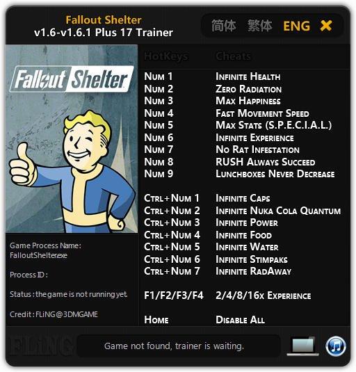 Fallout Shelter Трейнер + (читы) для ПК версии