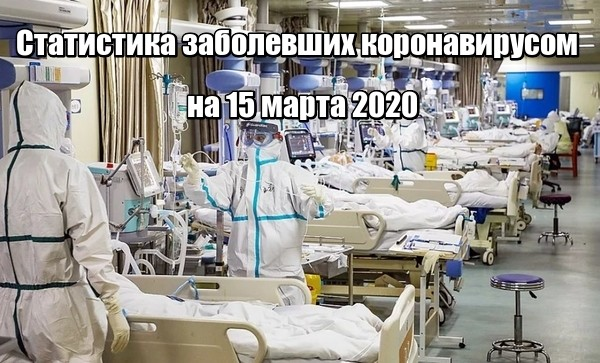 Статистика заболевших коронавирусом в мире на 15 марта 2020
