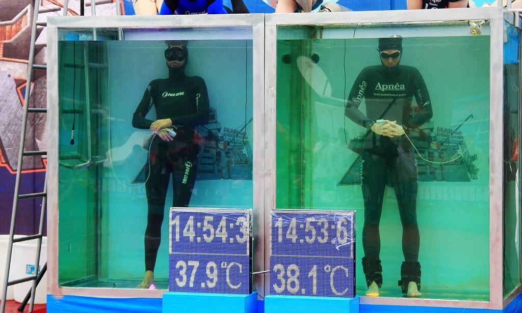 Рекорд нахождения человека без воздуха под водой