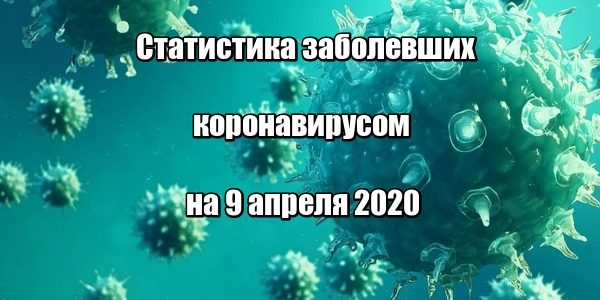Статистика заболевших коронавирусом на 9 апреля 2020 в России и мире