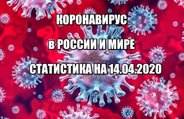 Статистика заболевших коронавирусом на 14 апреля 2020 в России и мире