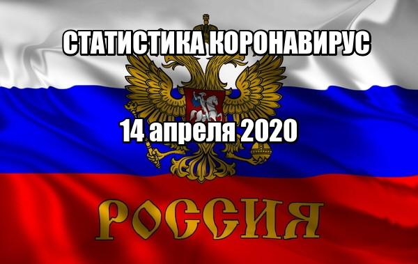 Коронавирус статистика по России на 14 апреля 2020