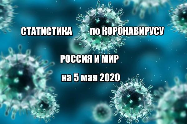 Статистика заболевших коронавирусом на 5 мая 2020 в России и мире