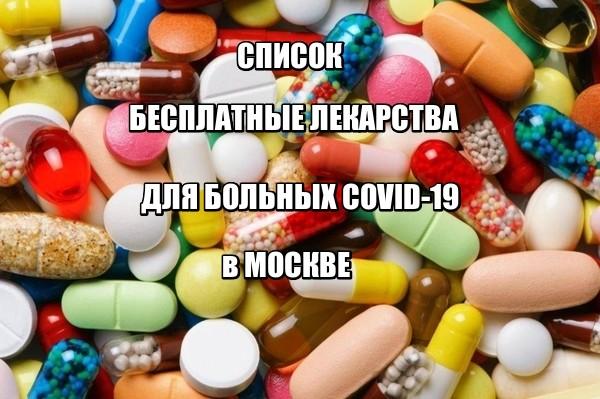 Список бесплатных лекарств для пациентов с коронавирусом