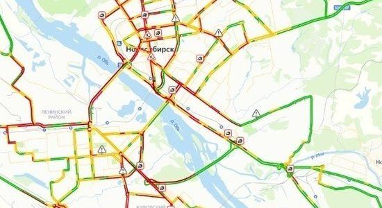 Пробки парализовали дороги Новосибирска 3 день подряд