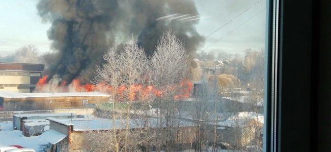 В Петербурге произошел страшный инцидент: загорелся склад стройматериалов
