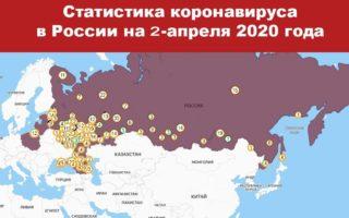Статистика заболевших коронавирусом на 2 апреля 2020 в России и мире